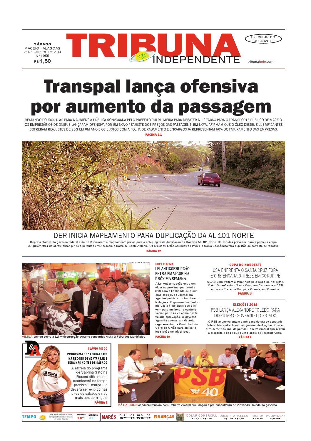 Edição número 1955 - 25 de janeiro de 2014 by Tribuna Hoje - issuu 96b39bf8eb