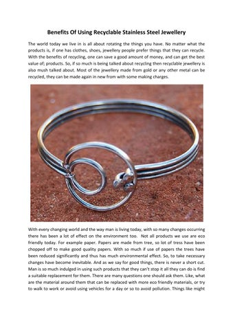 e9dd6dc743f8 Benefits Of Using Recyclable Stainless Steel Jewellery The world today we  live in is all about rotating the things you have. No matter what the  products is