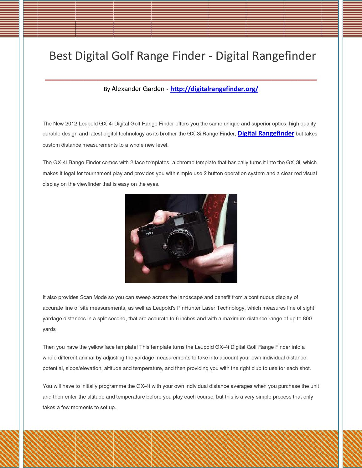 Digital rangefinder by adfsdasd - issuu