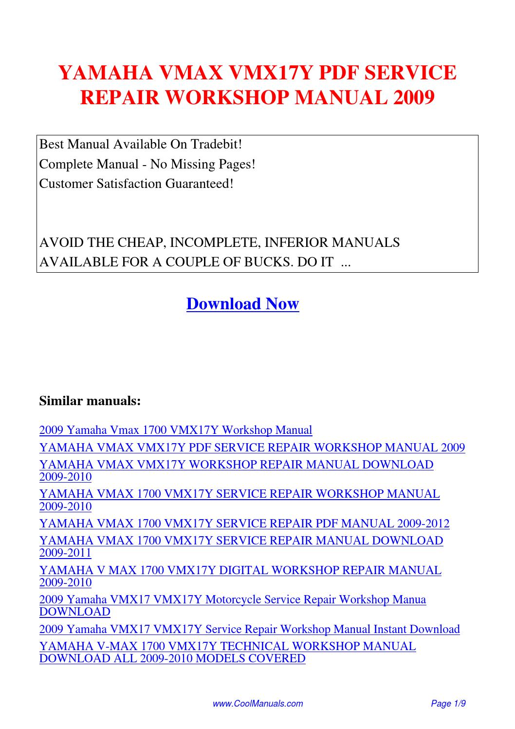 ... Array - yamaha vmax vmx17y service repair workshop manual 2009 pdf by  linda rh issuu com
