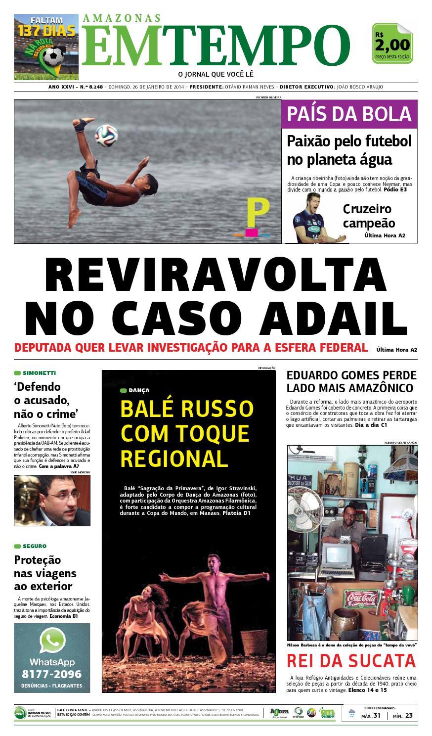 EM TEMPO - 26 de janeiro de 2014 by Amazonas Em Tempo - issuu 5e334901ee9