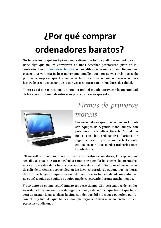 Port tiles y punto ordenadores baratos by redacci n issuu for Portatiles nuevos baratos
