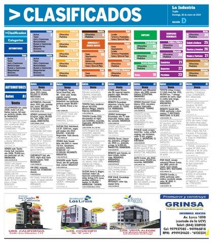 La Industria Trujillo Clasificados 26ene2014 by Alejandro Obregon ... 39966a215093