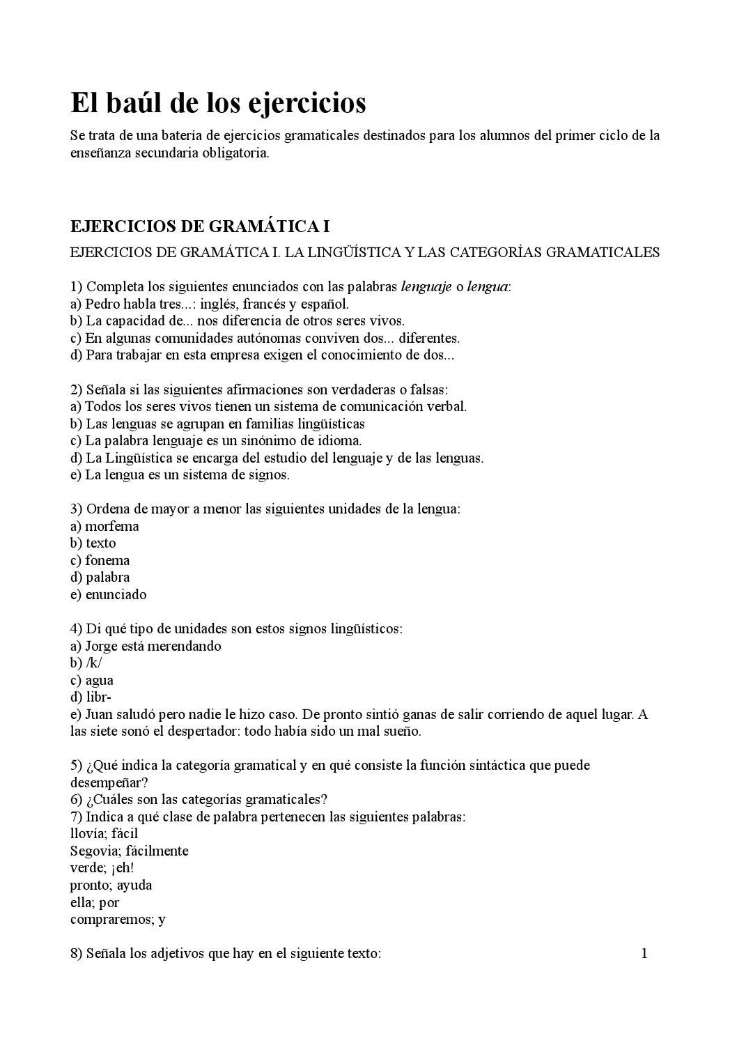 Ejercicios de gram tica by patro issuu for En y frances ejercicios