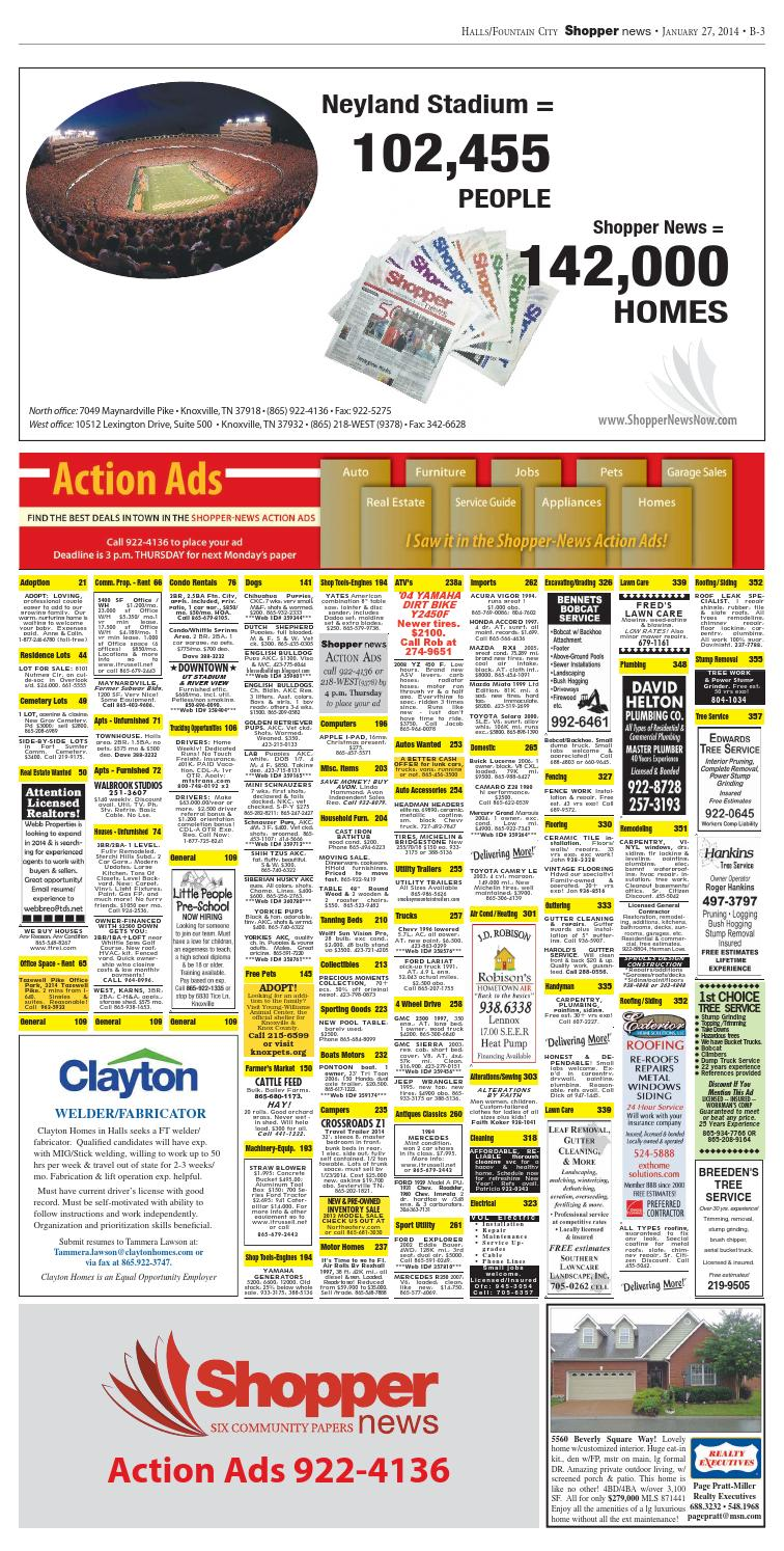 Halls/Fountain City Shopper-News 012714 by Shopper-News - issuu