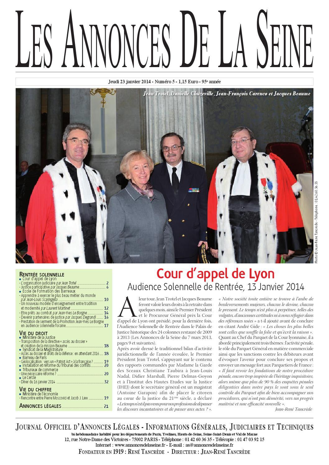 f4400900a32d Edition du jeudi 23 janvier 2014 by Annonces de la Seine - issuu