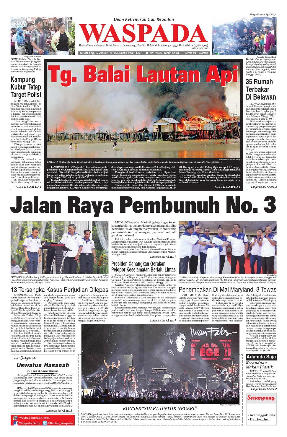 Waspada Senin 27 Januari 2014 By Harian Waspada Issuu