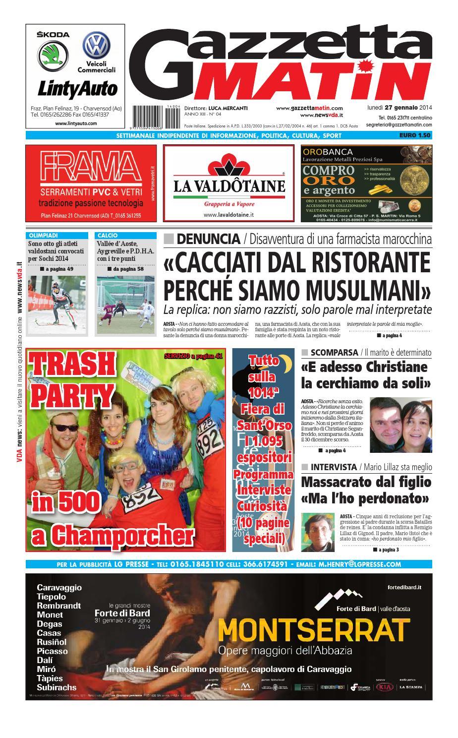 a76d529f53 Gazzetta Matin 27 gennaio 2014 by Luca Mercanti - issuu
