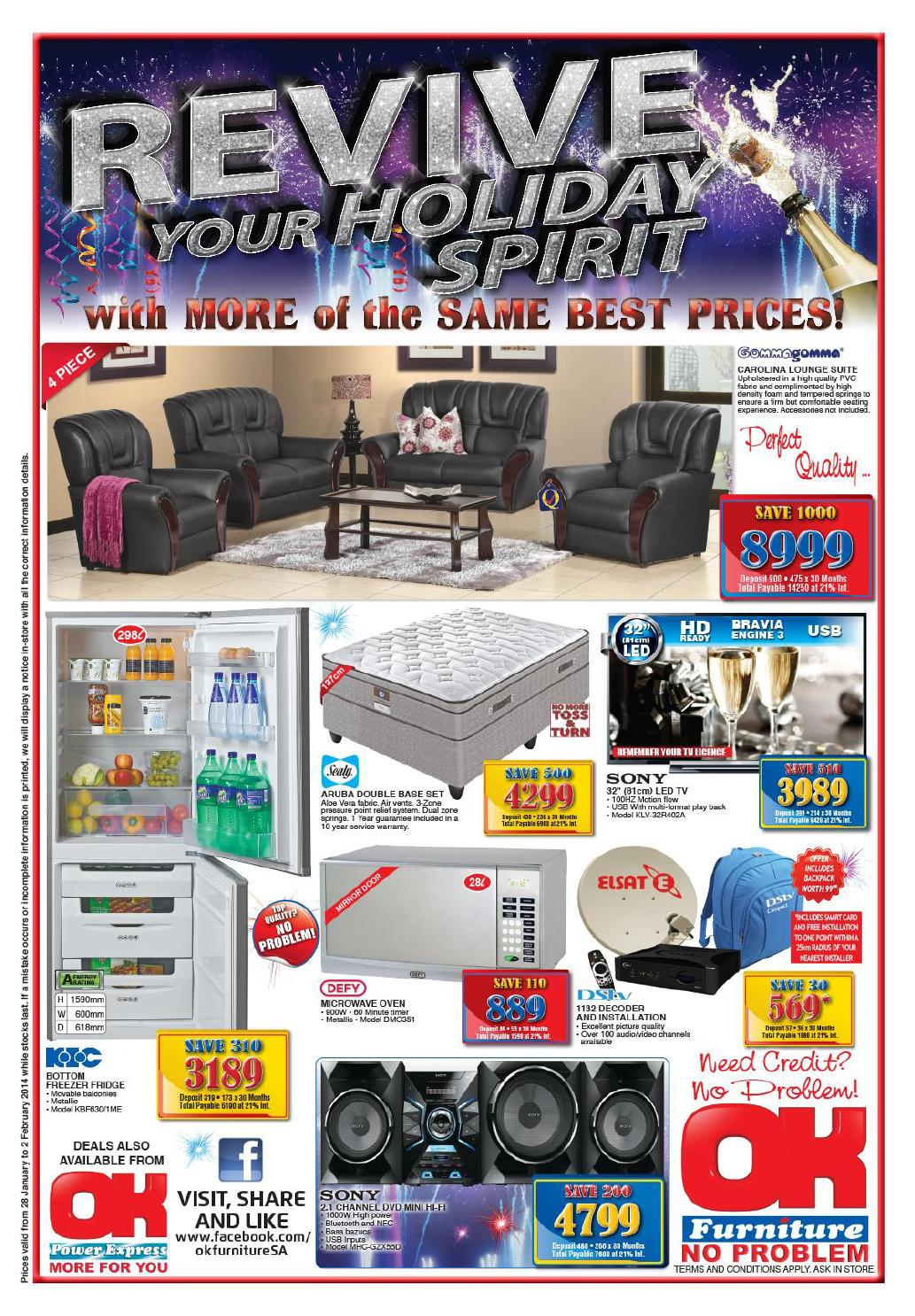 OK Furniture Weekly Catalogue South Africa Validity 28 JanUARY  2 February  2014 By OK Furniture   Issuu