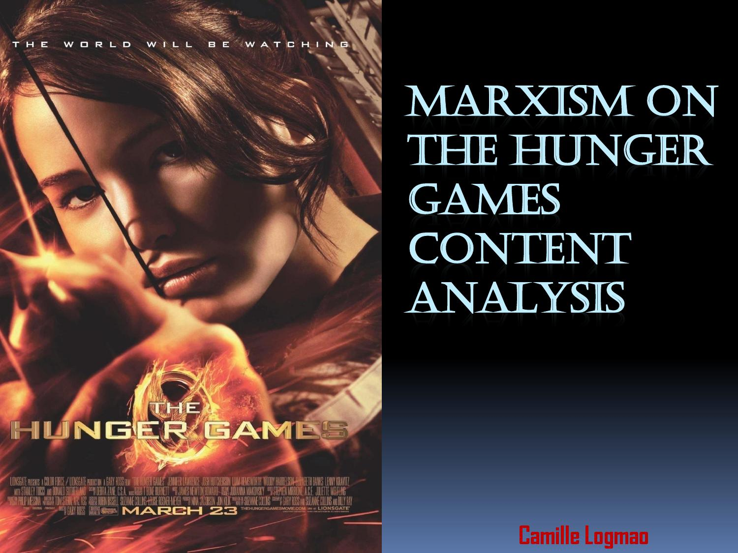 "feminist marxist analysis of the hunger games Linköping university  an analysis of the trilogy, the hunger games, by suzanne collins  53 women""s work: marxist feminism theory."