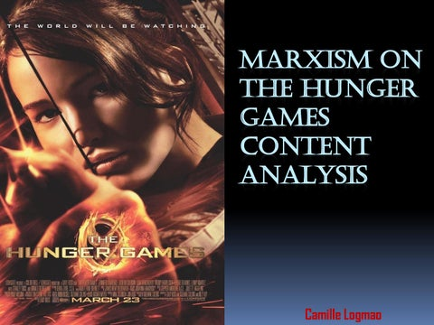 marxist criticism hunger games Benan demir explores the hunger games: catching fire via the viewpoint of karl marx.