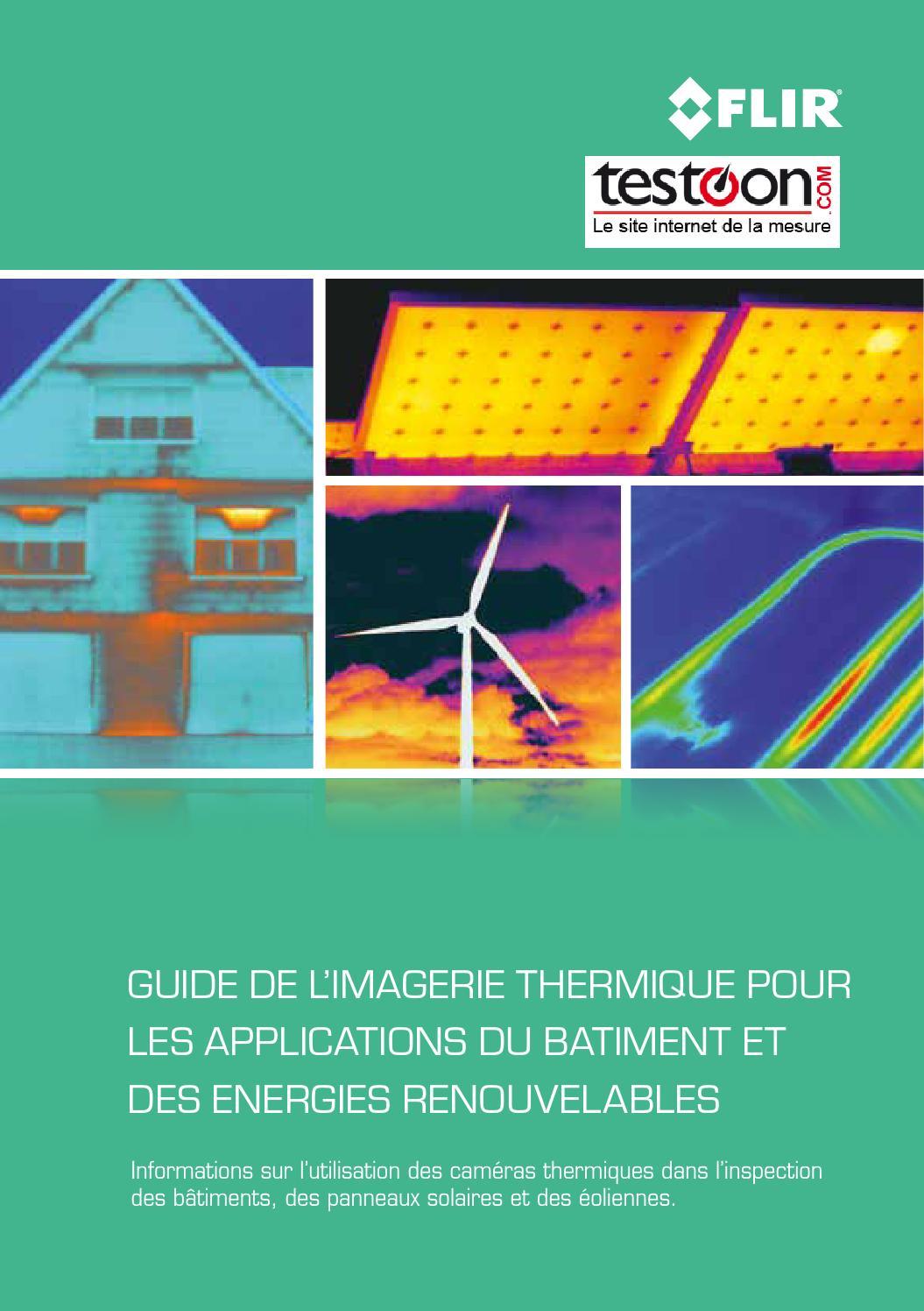 Guide de l imagerie thermique pour les applications du for Guide du batiment