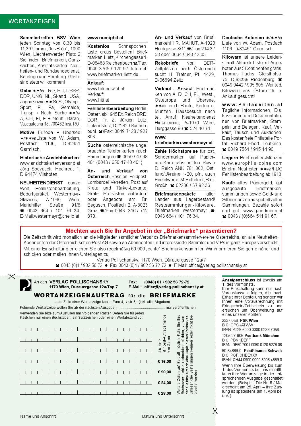 Die Briefmarke 2014 02 By Verlag Pollischansky Issuu