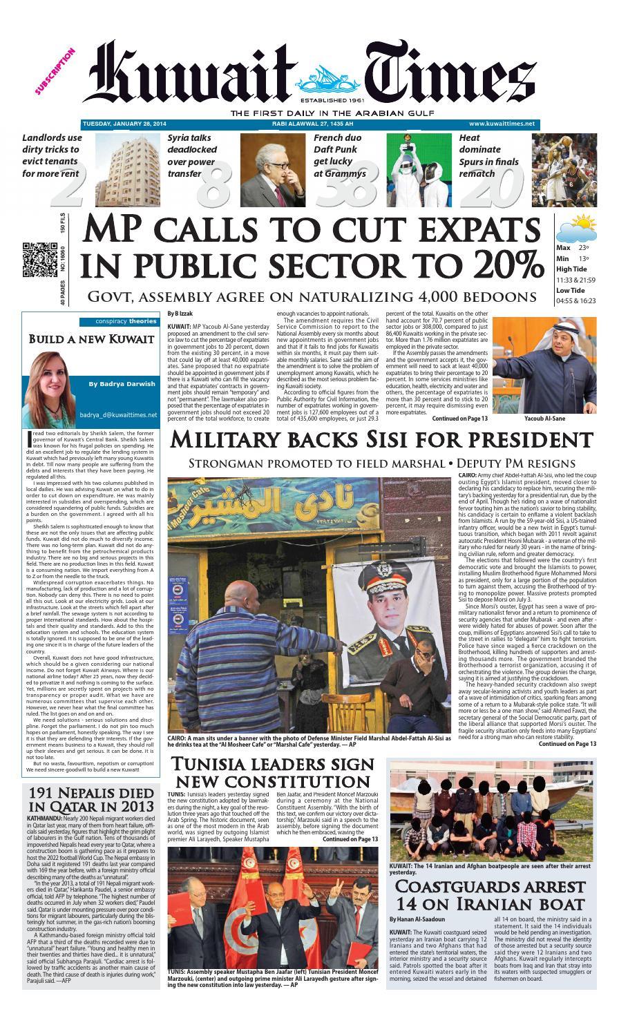 28 Jan By Kuwait Times Issuu