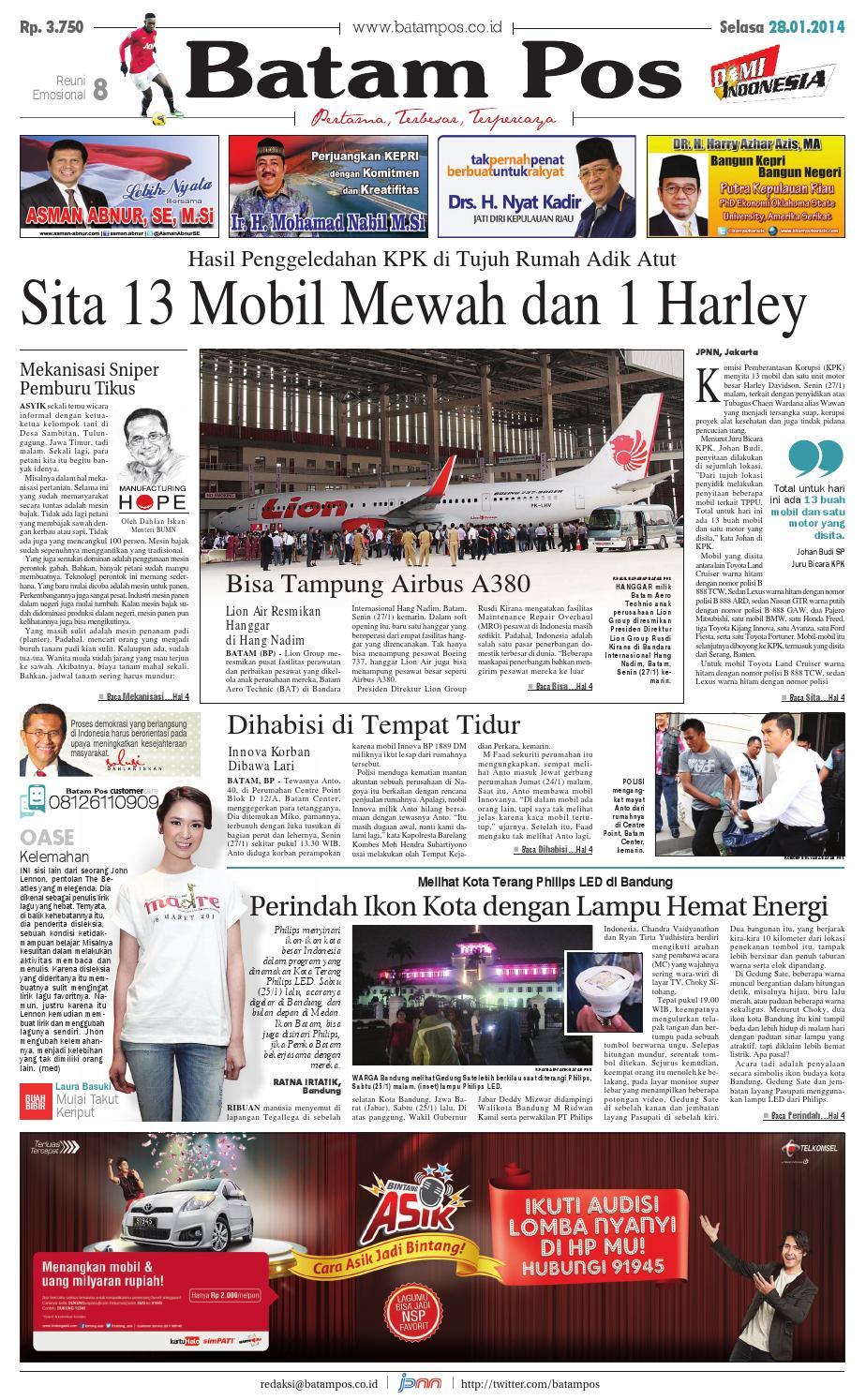 28 Januari 2014 by Batampos Newspaper - issuu dceddd5d30