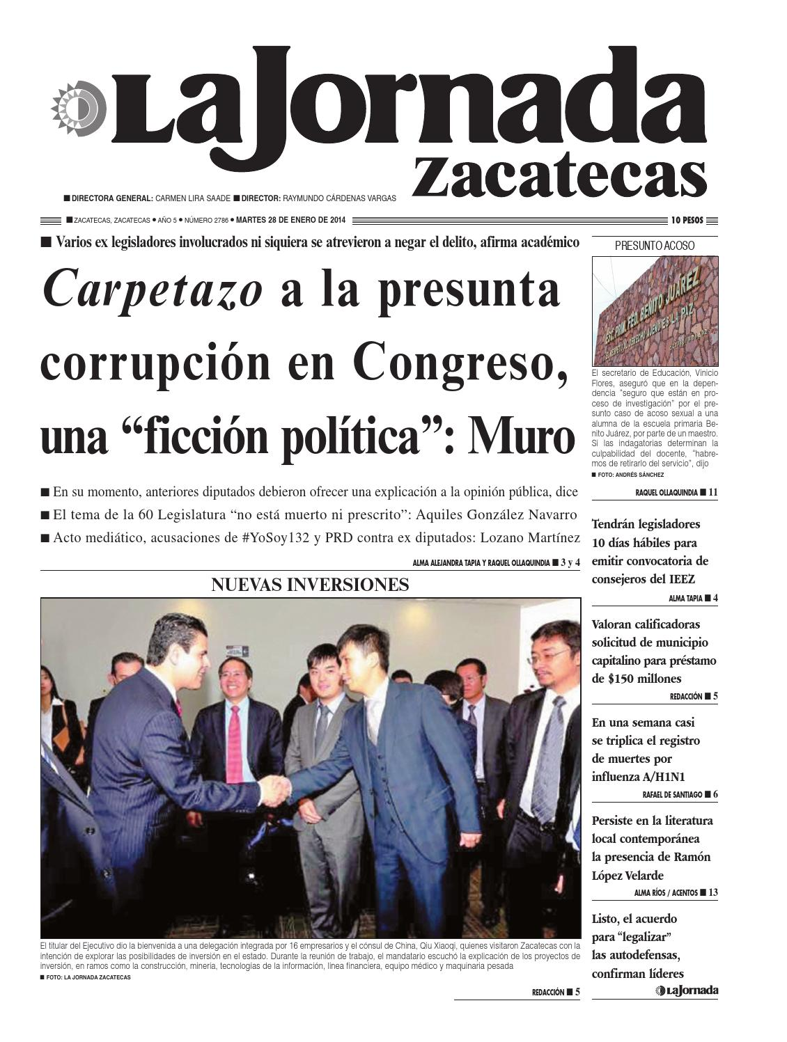 La Jornada Zacatecas martes 28 de enero de 2014 by La Jornada ...