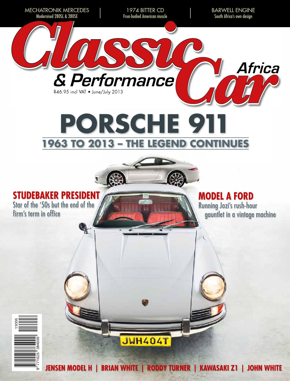 classic u0026 performance car africa june july 2013 by classic