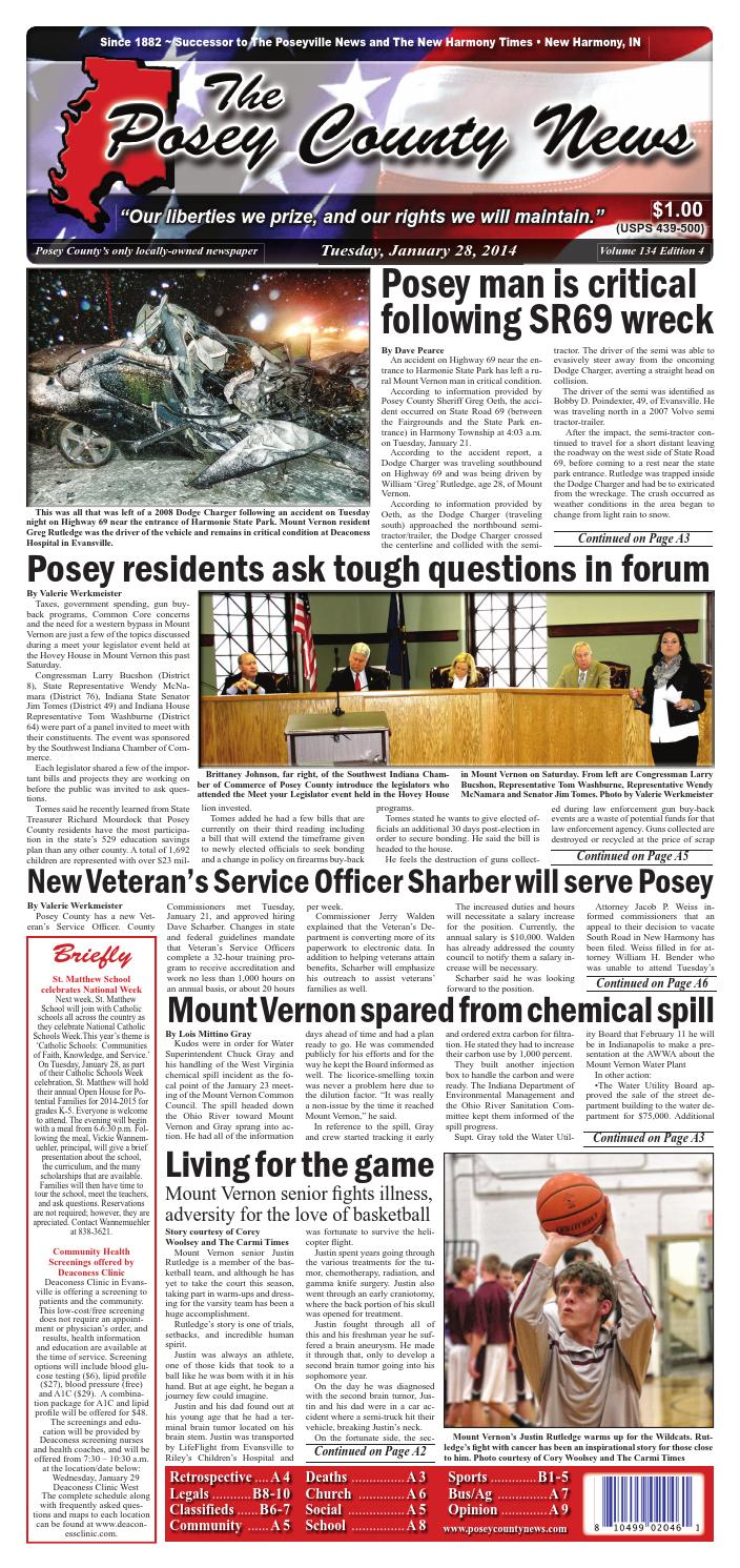 January 28 2014 the posey county news