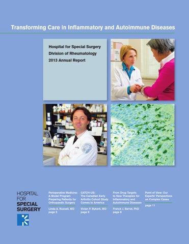HSS Rheumatology Annual Report 2013 by Hospital for Special Surgery