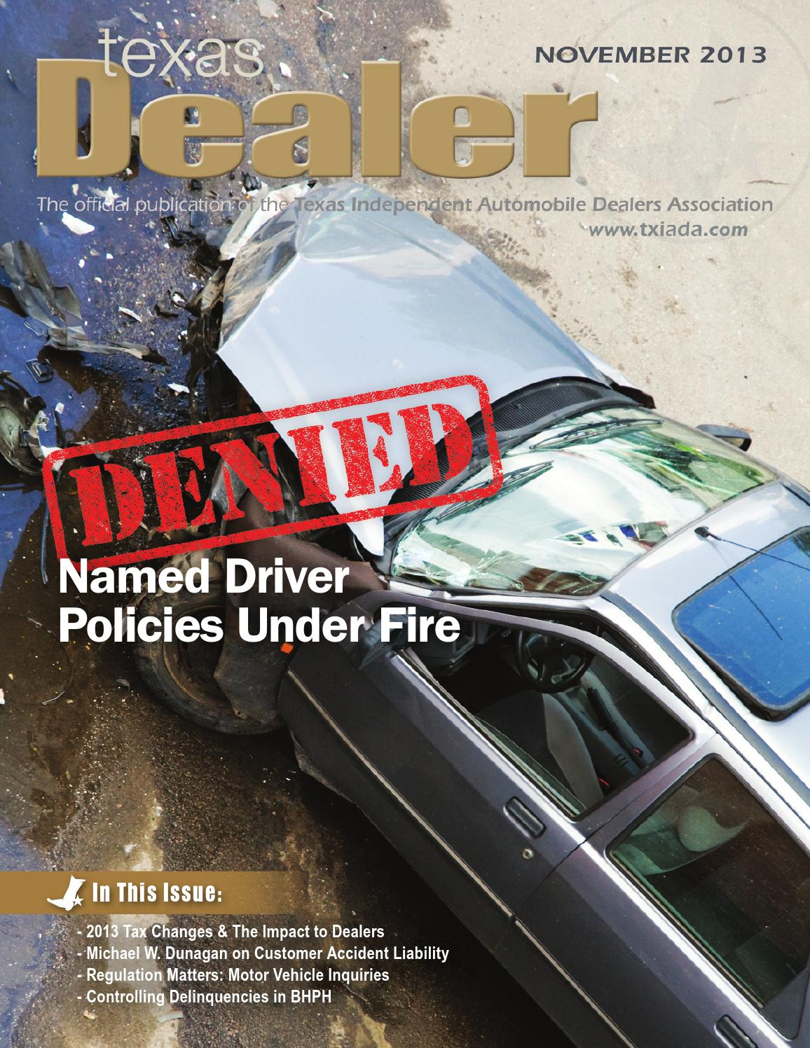 Texas dealer november 2013 by texas independent auto dealers association issuu