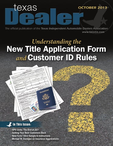 Texas Dealer, October 2013 by Texas Independent Auto Dealers ...