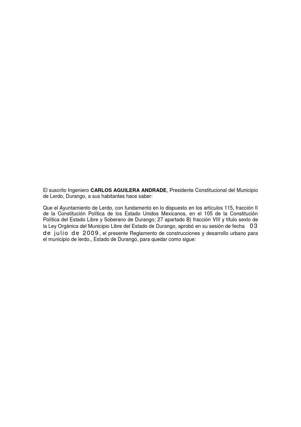 Reglamento de construcciones y desarrollo urbano by Fakto - issuu