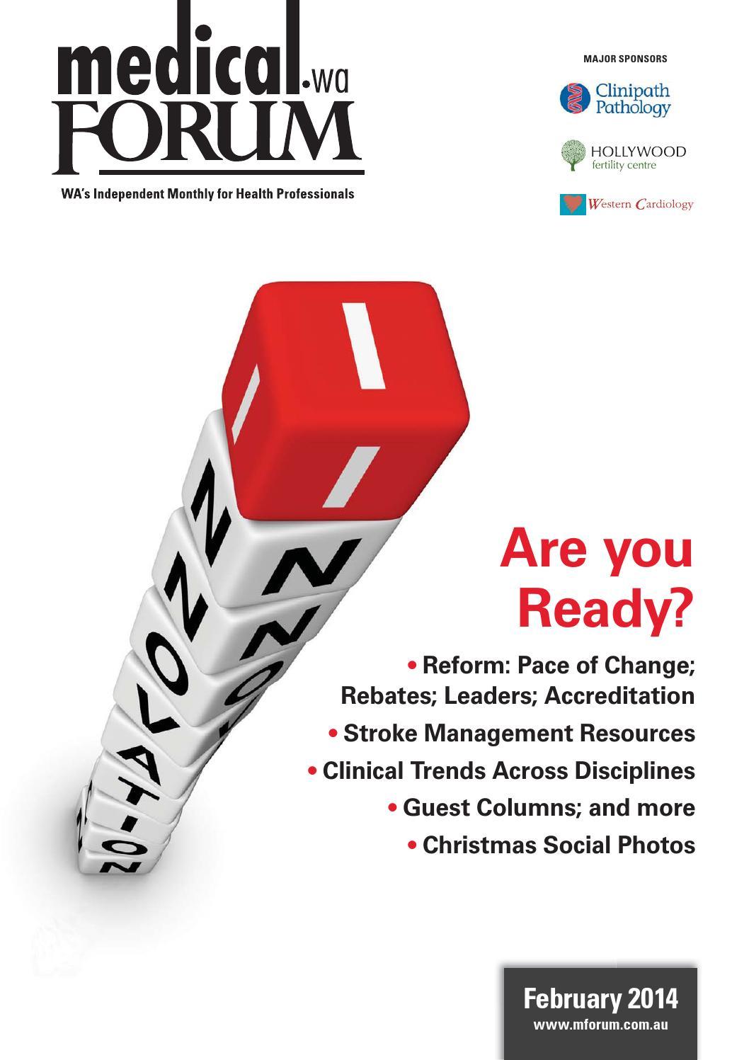 Medical Forum 02/14 Public edition by Medical Forum WA - issuu