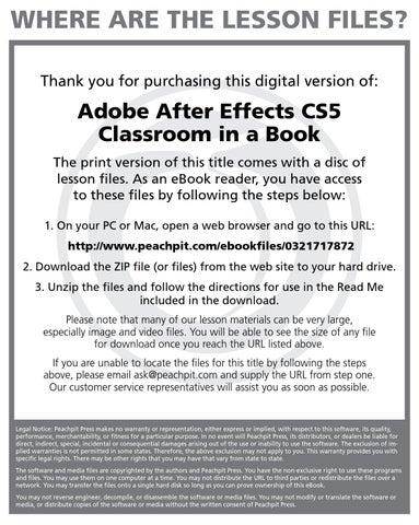 Adobe Flash Cs5 Classroom In A Book Lesson Files