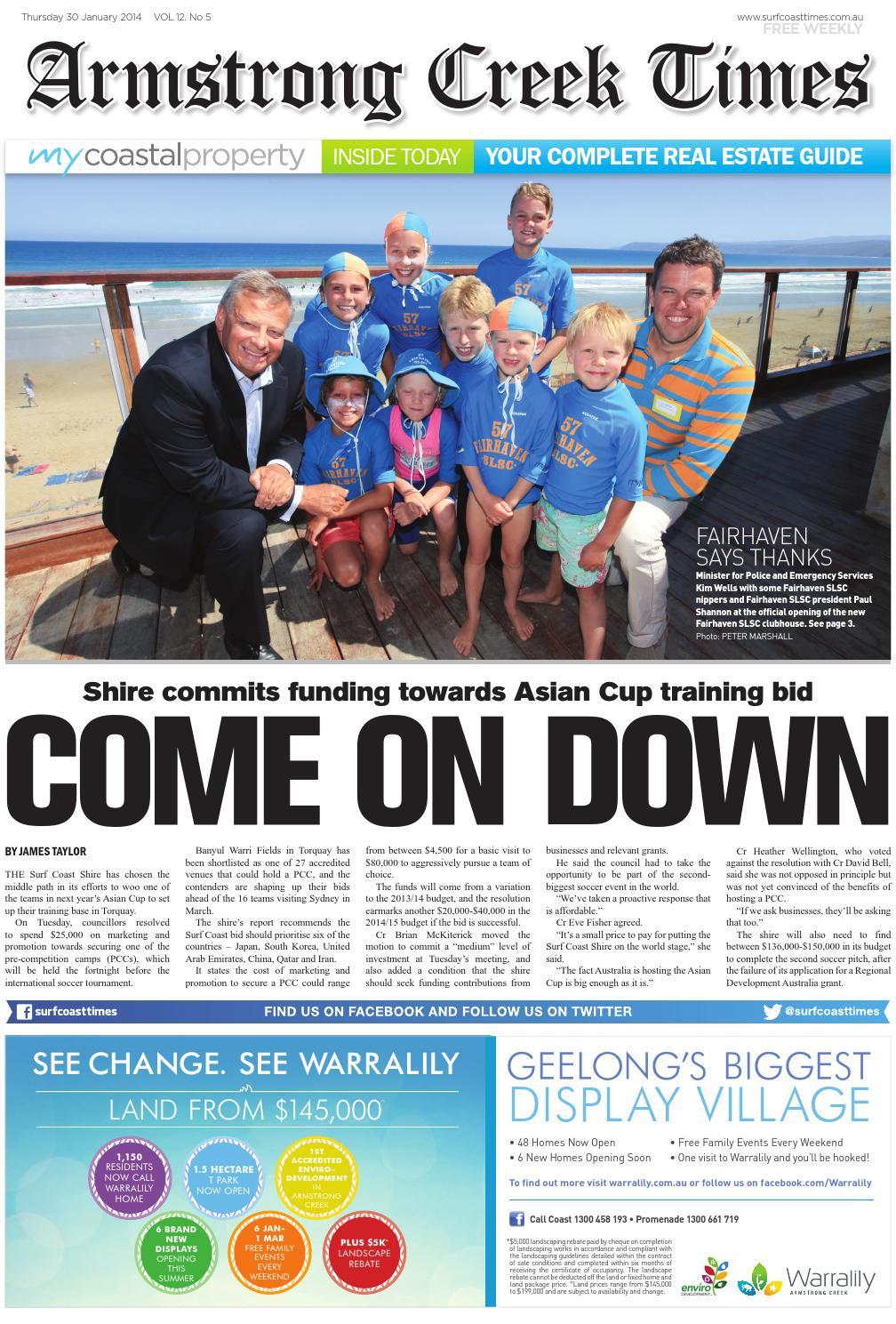 f989a02bb55c6 Armstrong Creek times January 30 by Surf Coast News Australia Pty ...