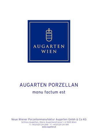 gesamtkatalog januar 2014 by porzellanmanufaktur augarten issuu. Black Bedroom Furniture Sets. Home Design Ideas