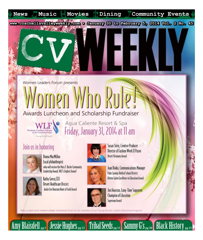 Coachella Valley Weekly - January 30 to February 5, 2014 Vol  2 No