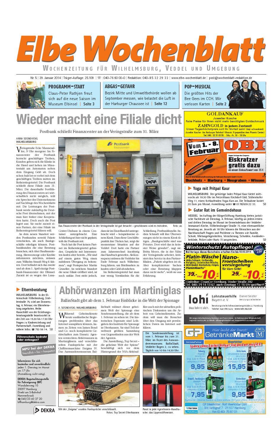 Wilhelmsburg KW05-2014 by Elbe Wochenblatt Verlagsgesellschaft mbH & Co.KG  - issuu