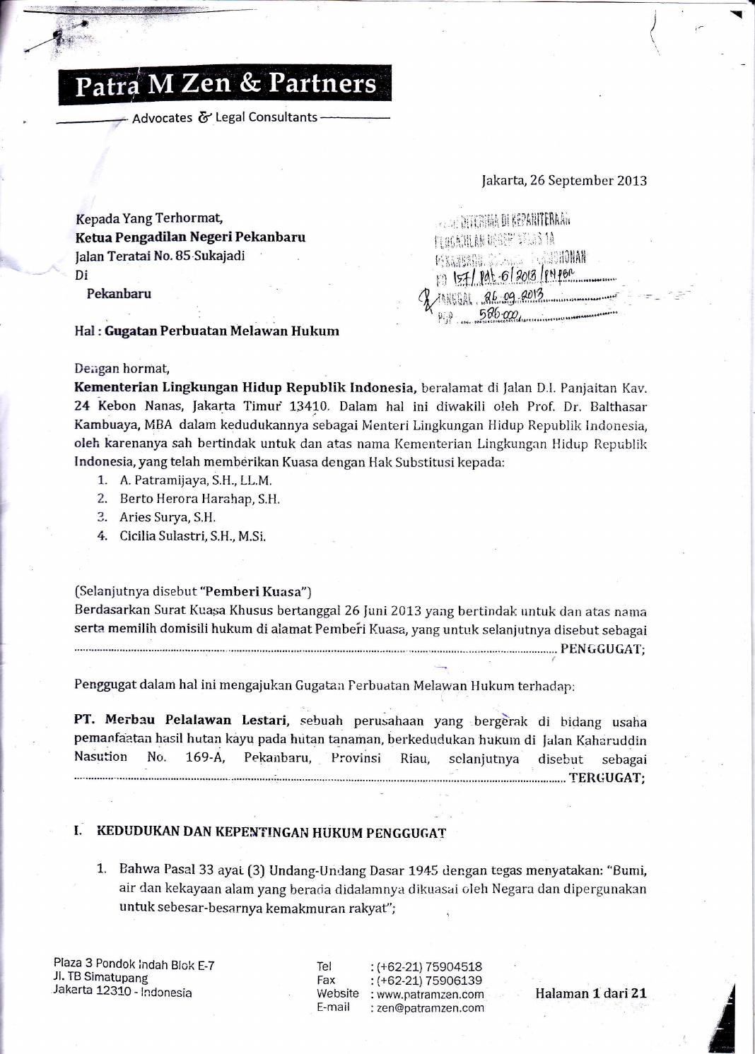 Gugatan Sidang Merbau Pelalawan Lestari by Senarai ID - issuu