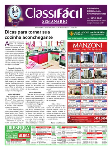 34b934f3eb119 29 01 2014 - Classificados - Edição 2997 by Jornal Semanário - Bento ...
