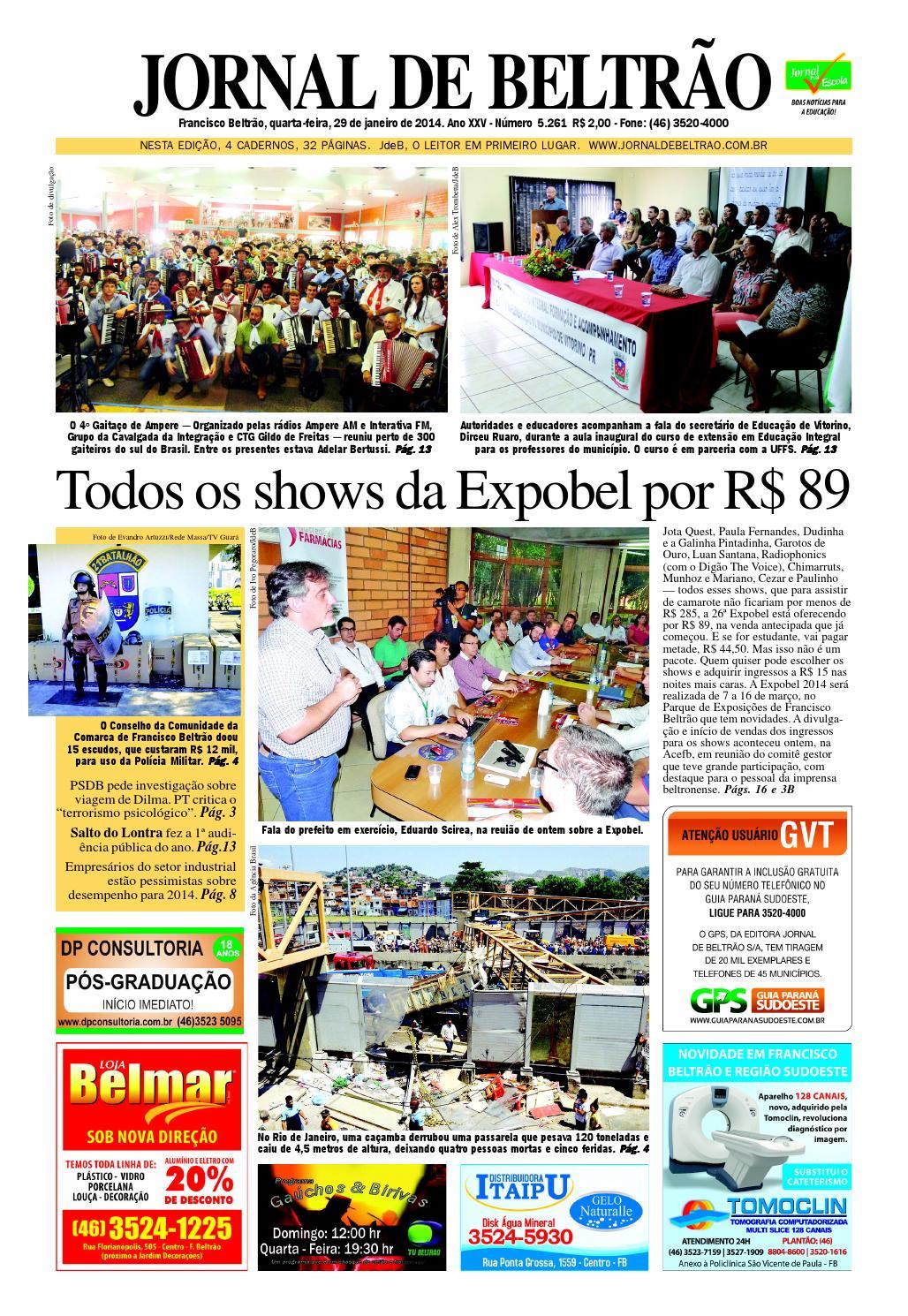Jornaldebeltrao 5261 29-01-2014.pdf by Orangotoe - issuu 65062da0a699a