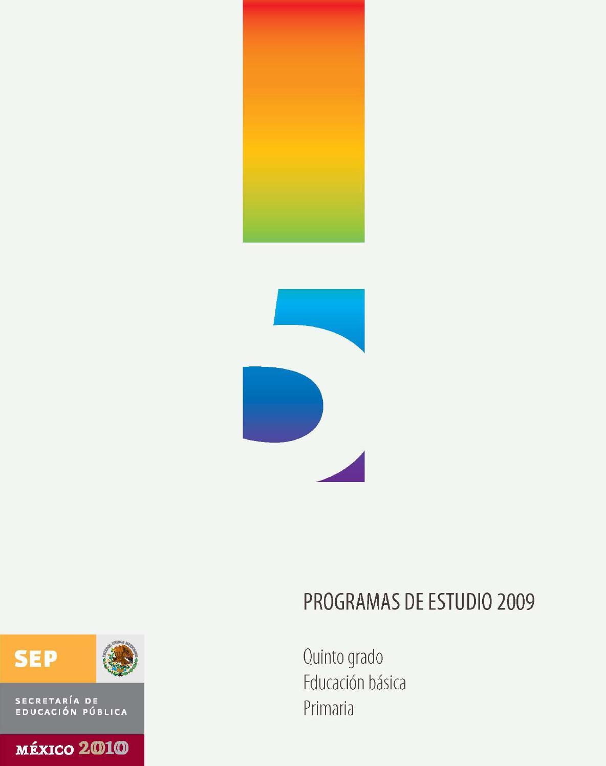 a6b73d52c8081 Programas de estudio 2009 5º by Ismael Rodríguez Arias - issuu