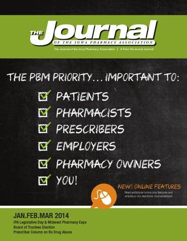 Ipa Journal Janfebmar By Iowa Pharmacy Association Issuu