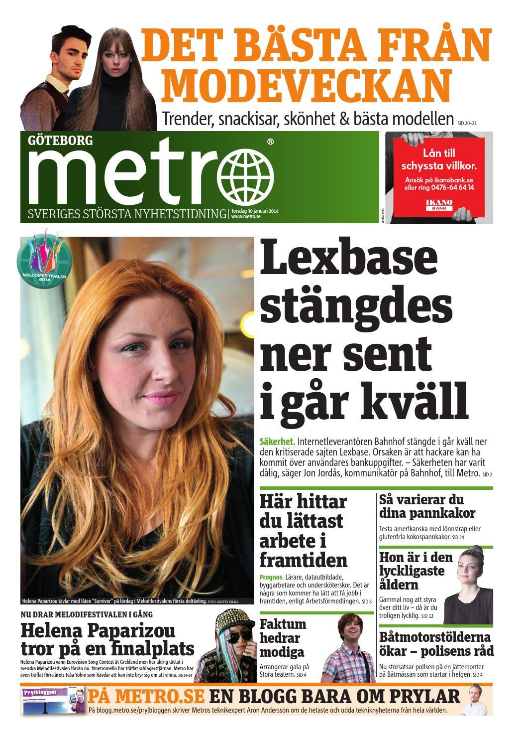 20140130 se goteborg by Metro Sweden - issuu 4e350e45994da