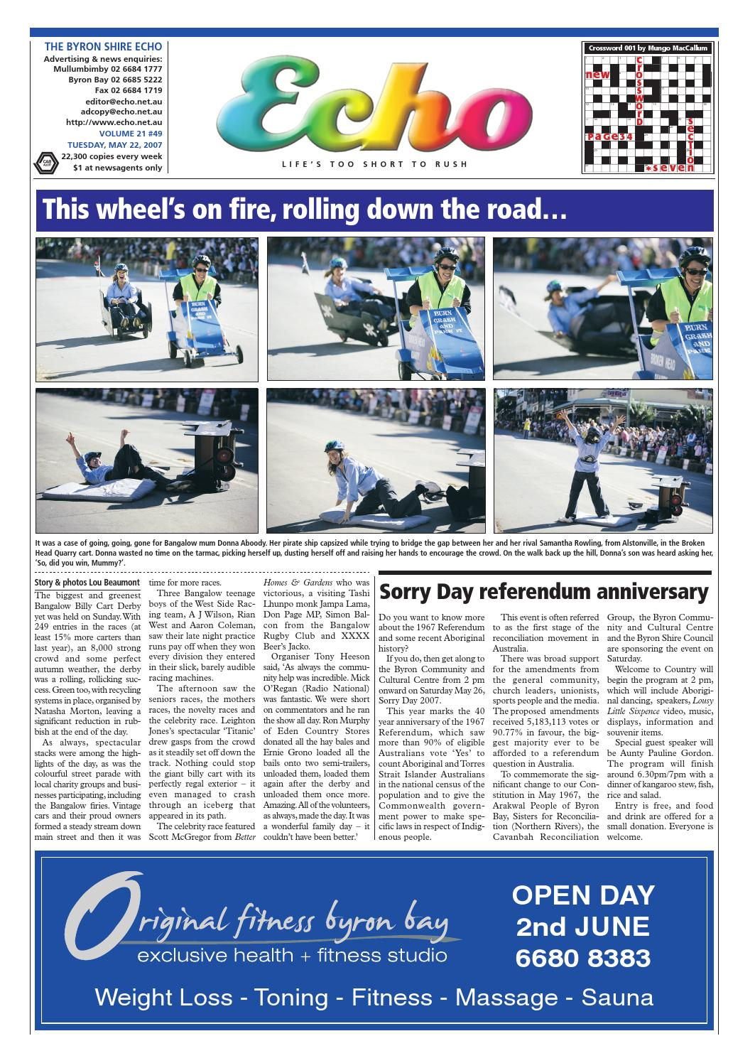 Byron Shire Echo Issue 2149 22 05 2007 By Publications Issuu Kaos Catching Fire