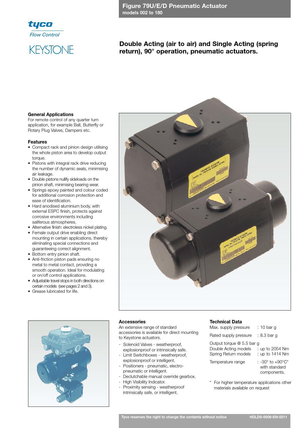 Keystone pneumatic actuator 79u manual