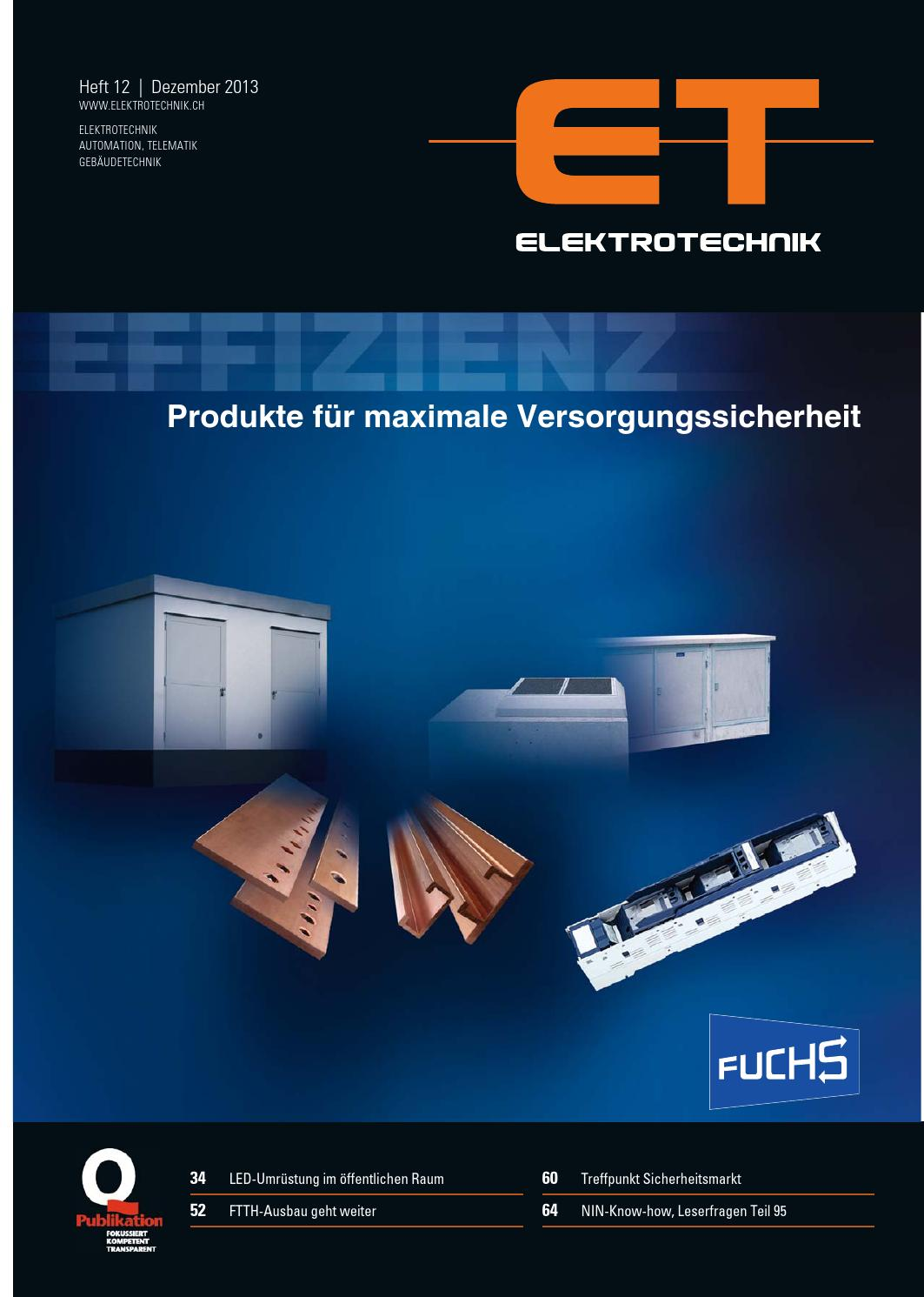 Elektrotechnik 12/2013 by AZ Fachverlage AG - issuu