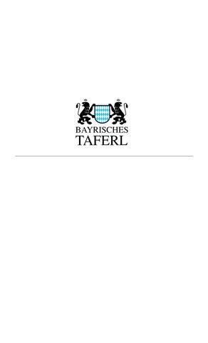 Ausgabe 05 2014 bayrisches taferl by Bayrisches Taferl issuu