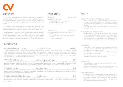 1 curriculum vitae  Part 1 Architecture CV Curriculum Vitae by TomGibbons - issuu