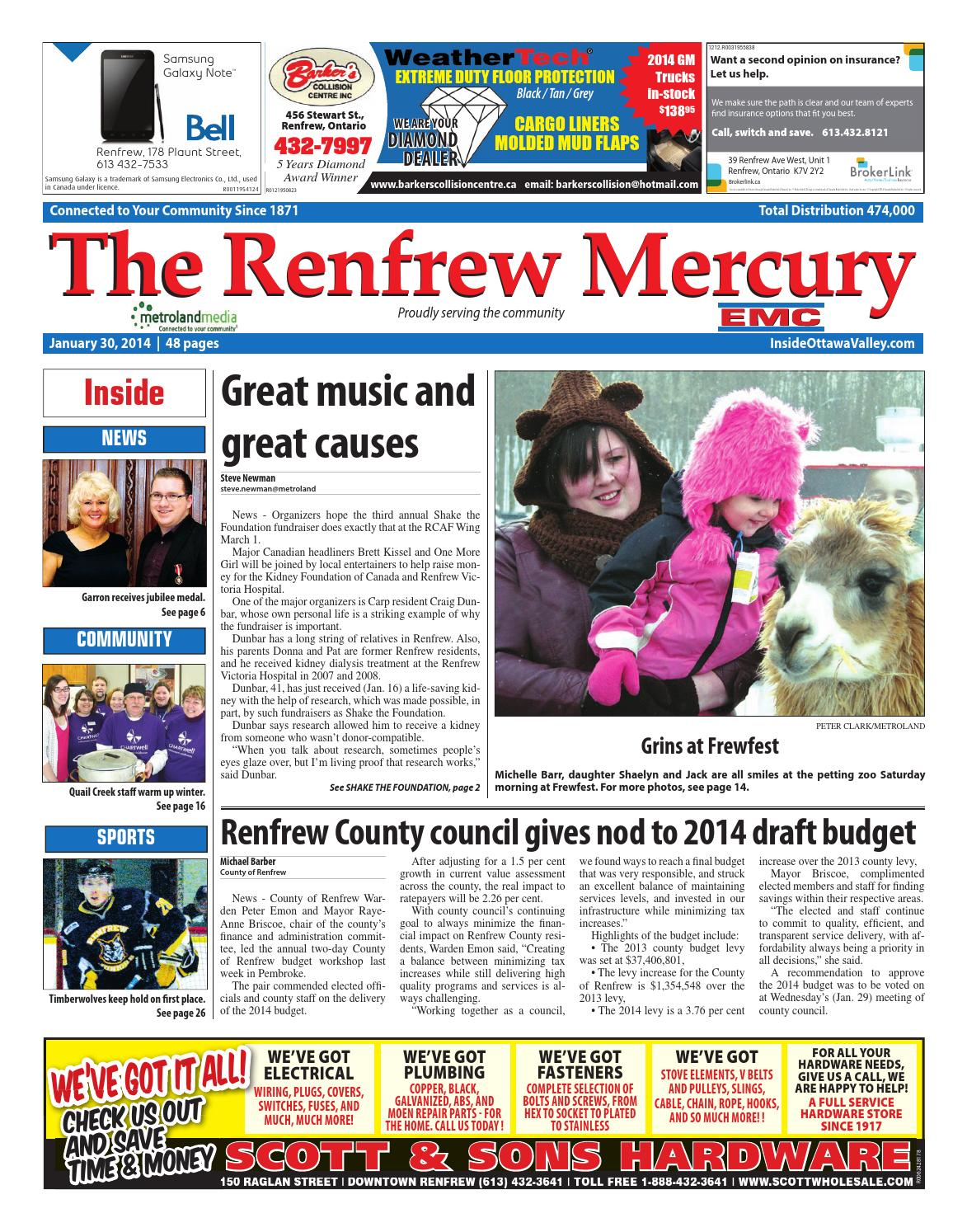 6ca614aae9 Renfrew013014 by Metroland East - Renfrew Mercury - issuu