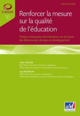 e60e692f275c6c Renforcer la mesure sur la qualité de l éducation by Agence ...