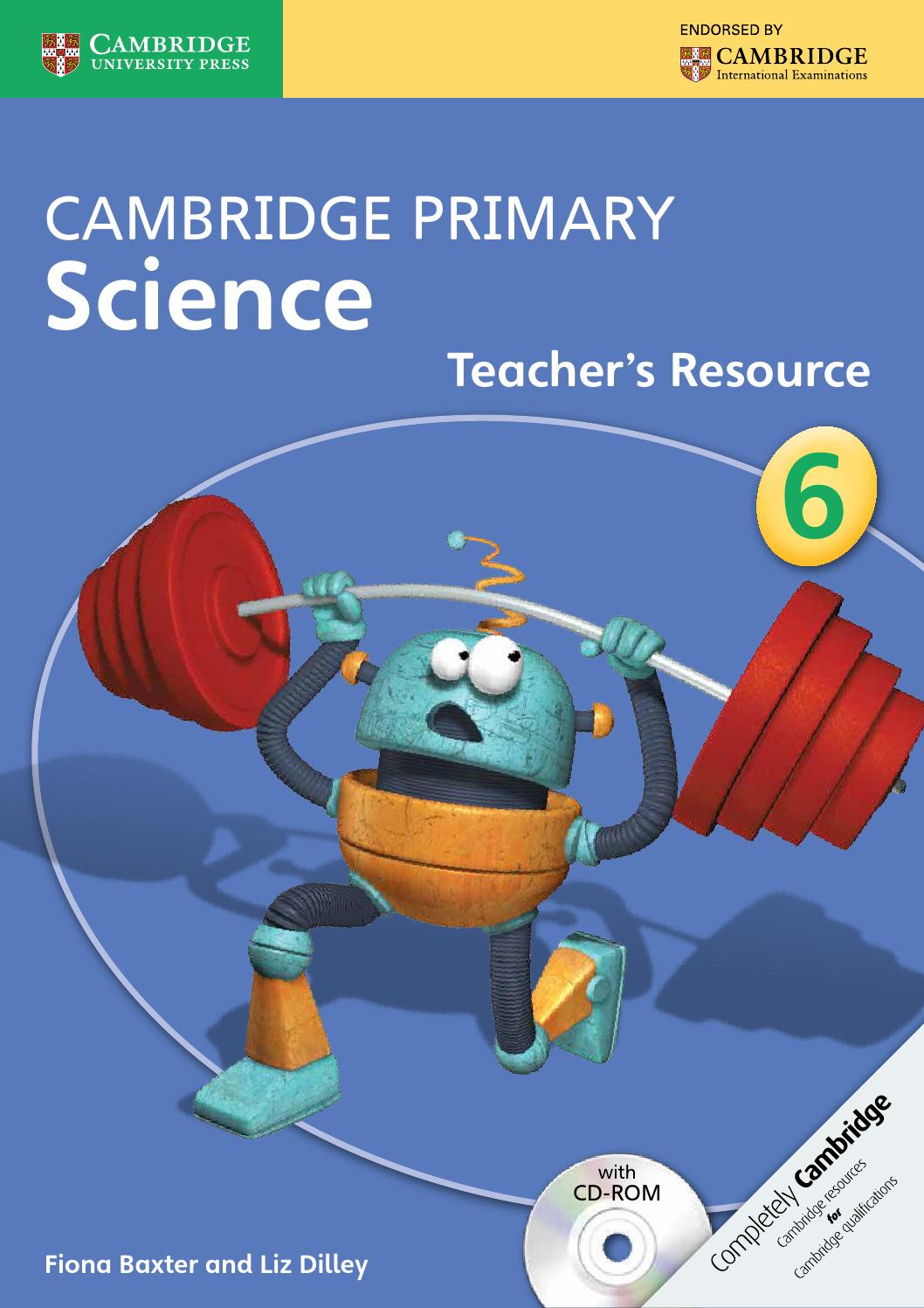Cambridge Primary Science Teacher\'s Resource Book 6 with CD-ROM by ...