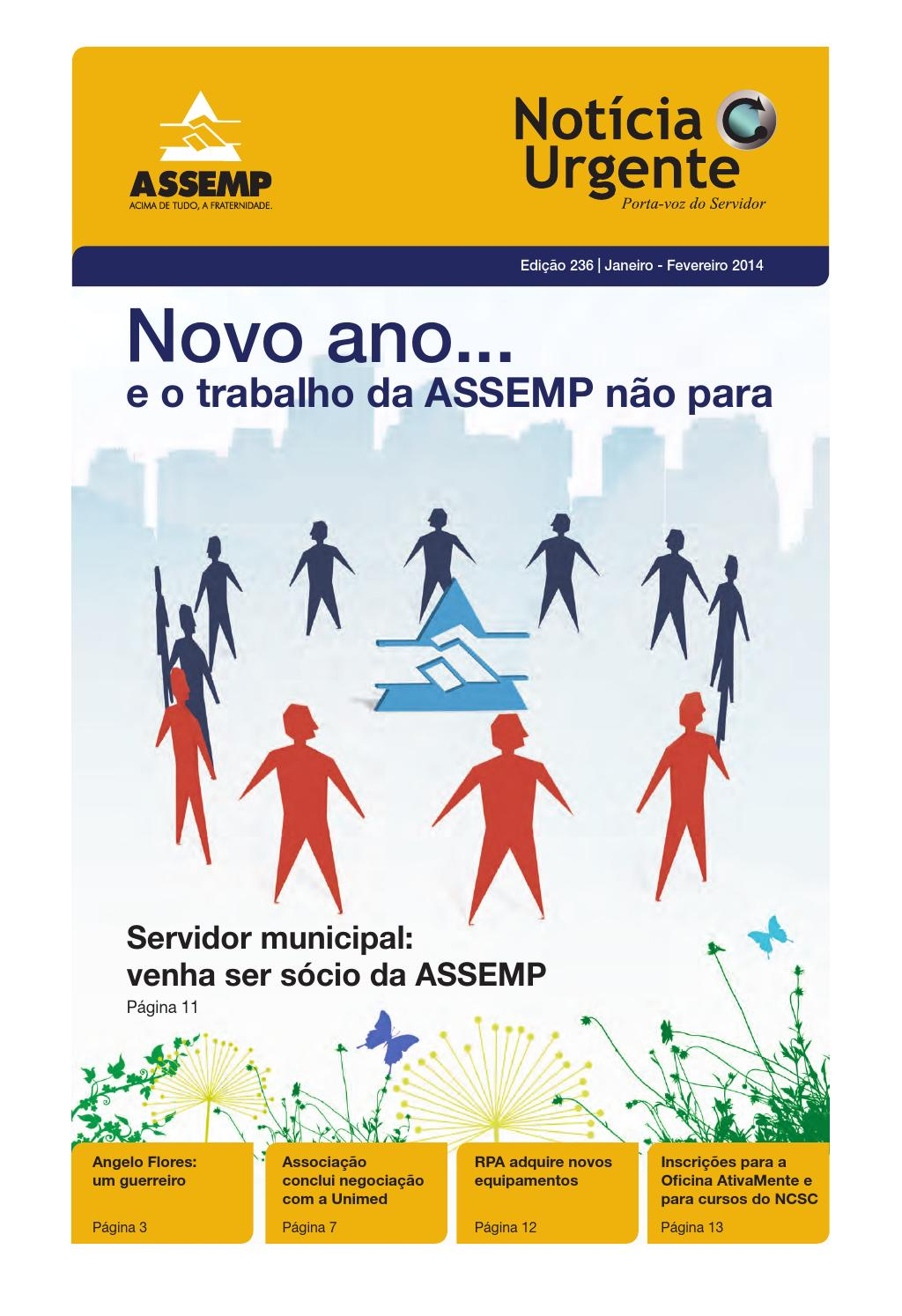 89d38082f8b4b Notícia Urgente Ed. 236 - Jan   Fev by Assemp BH - issuu