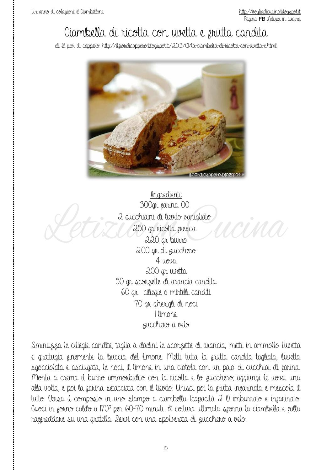 Un anno di colazioni: il Ciambellone by Letizia in Cucina - issuu