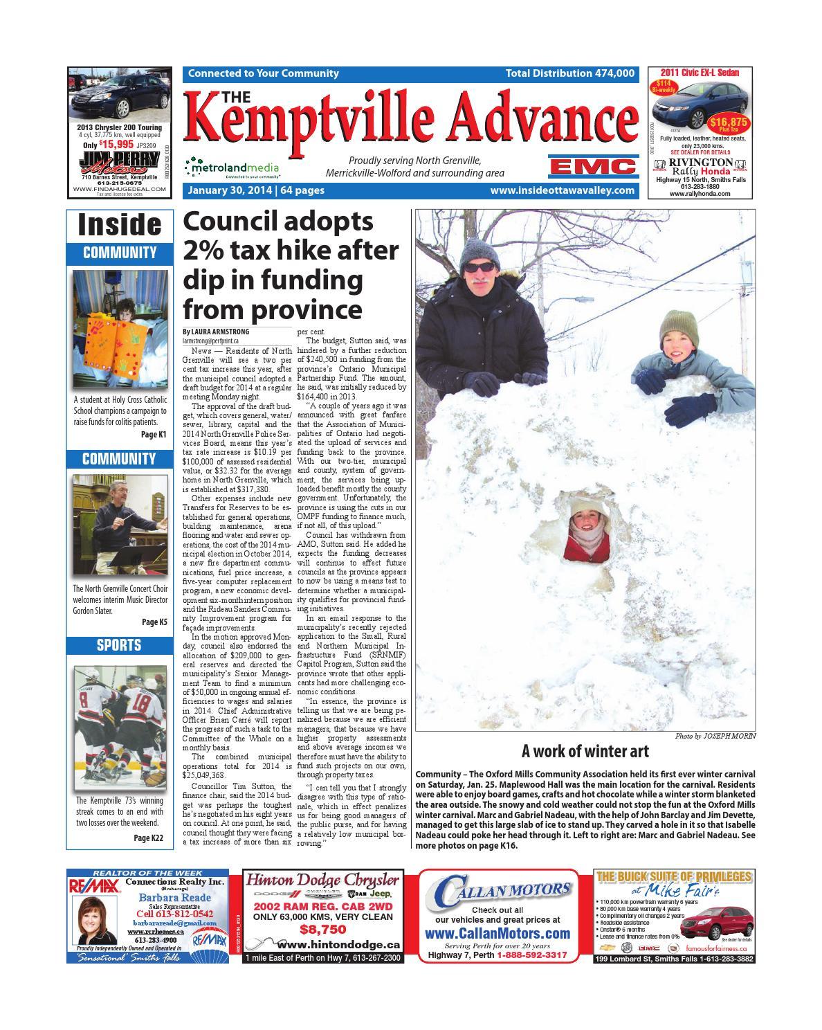 Kemptville013014 By Metroland East Kemptville Advance Issuu Whirlpool Quiet Partner Ii Dishwasher Schematic Wiring Review Ebooks
