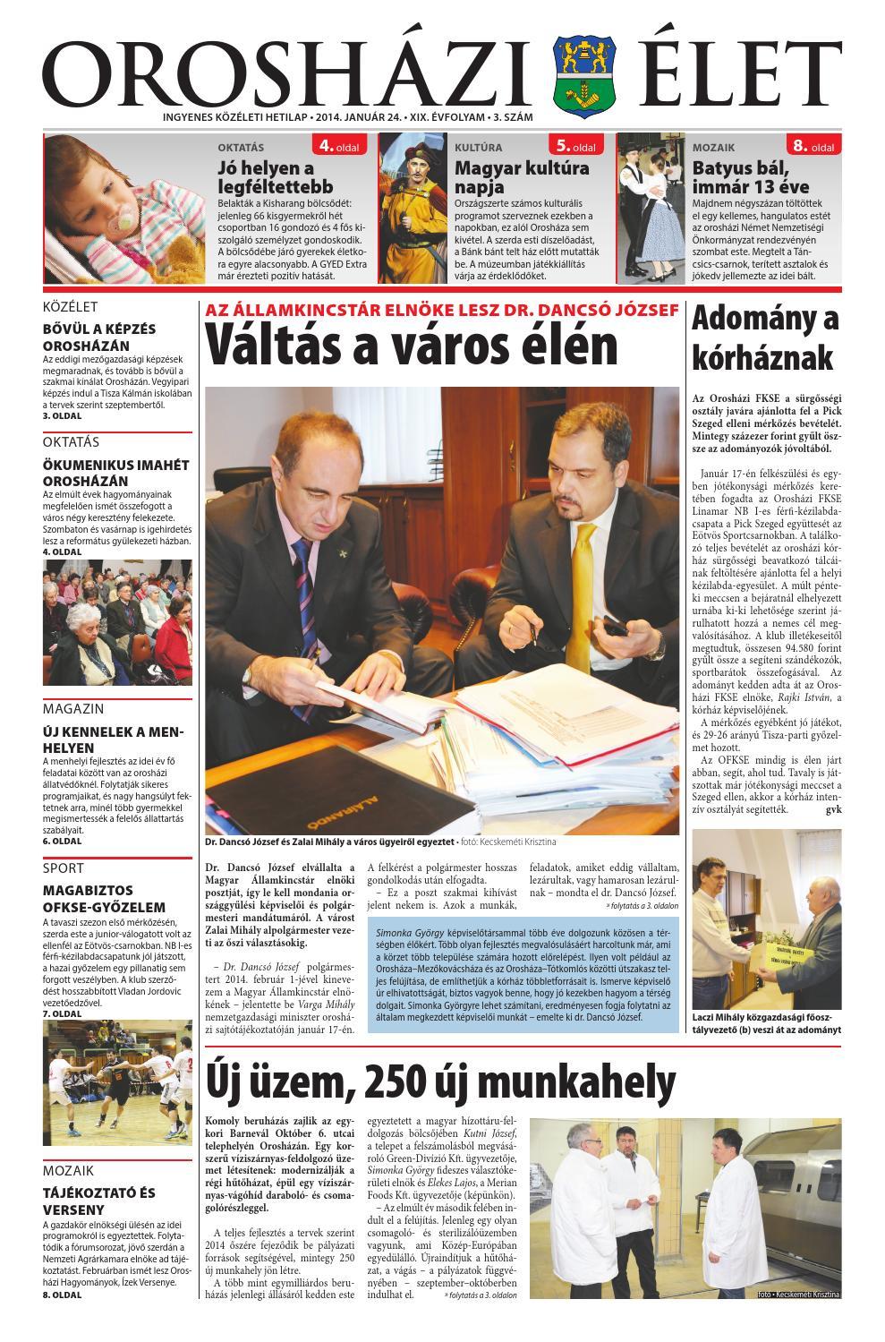 2014 03 szám Orosházi Élet by OrosCafé - issuu f3aa0efc08